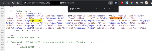 Solution for Pagination Bug w/ Joomla 3, K2, SH404SEF, T3 Framework