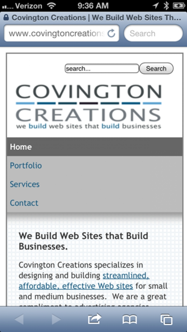Does your site look this good on a mobile device?